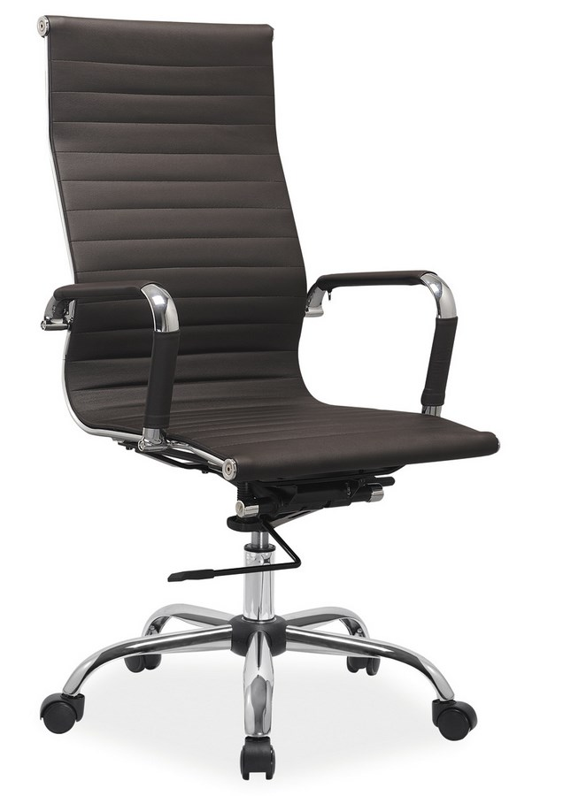 Kancelářská židle Q-040 hnědá ekokůže
