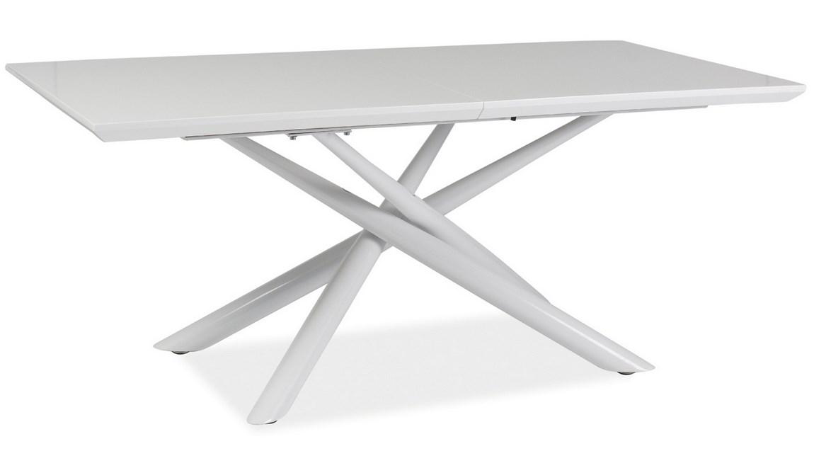 Smartshop Jídelní stůl TARANTO rozkládací, bílý lesk