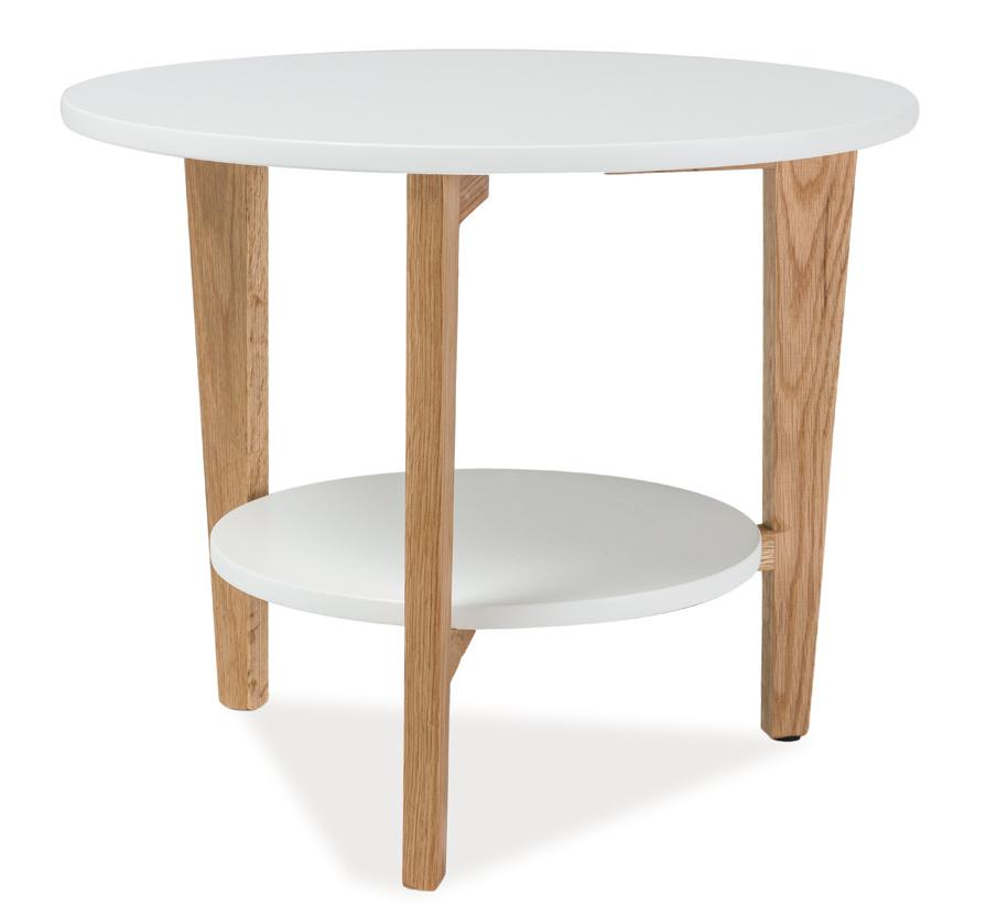Smartshop Konferenční stolek LARVIK D, bílý
