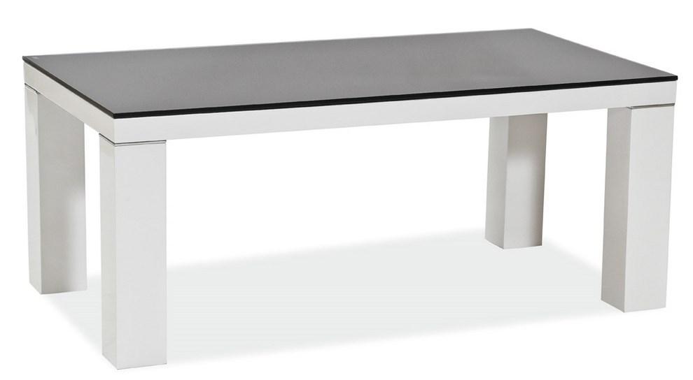 Smartshop Konferenční stolek DIONIZOS B, sklo/bílá