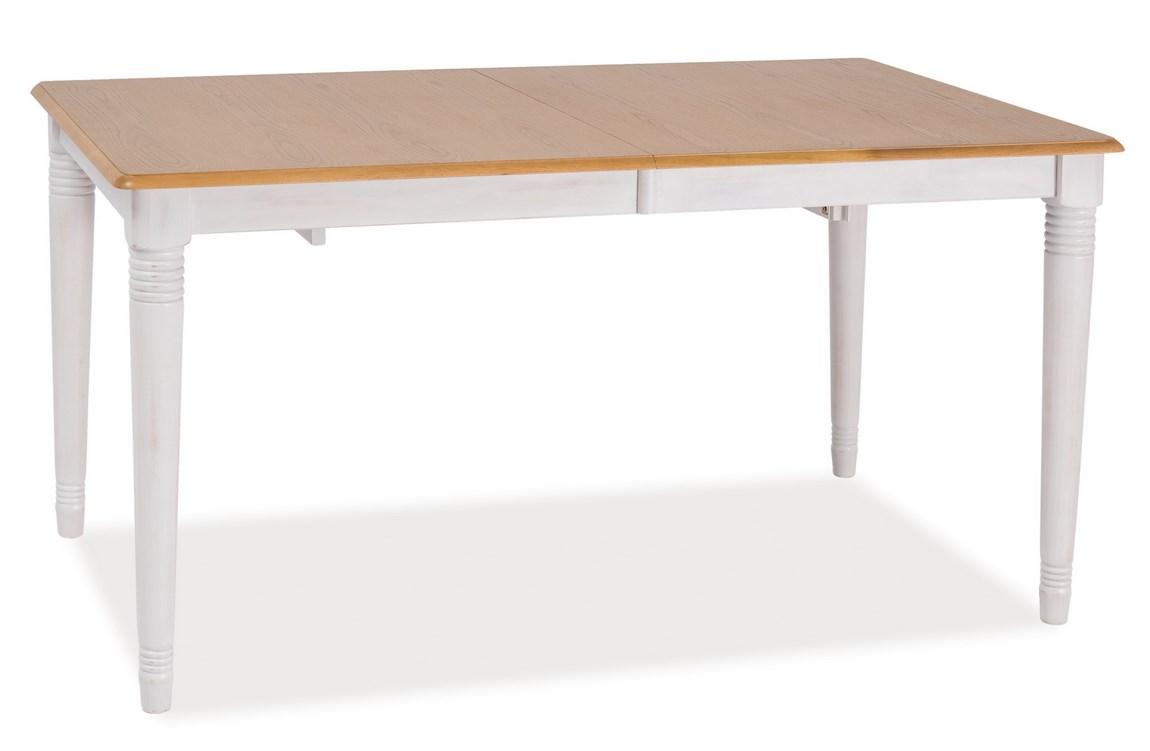 Smartshop Jídelní stůl rozkládací FADO II 150x90, dub/bílá