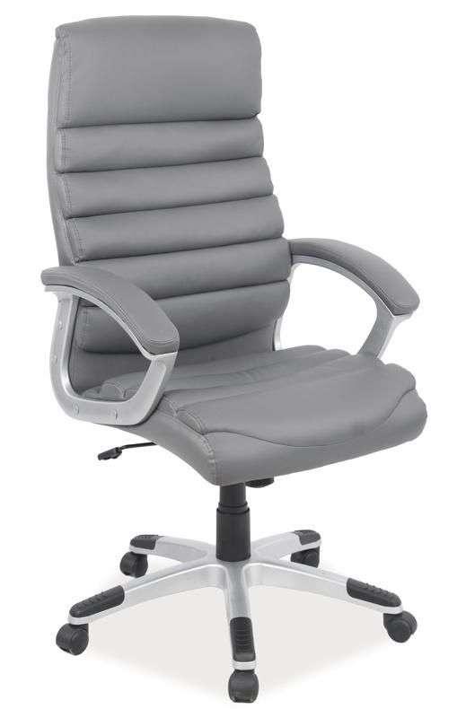 Kancelářské křeslo Q-087 - šedá ekokůže