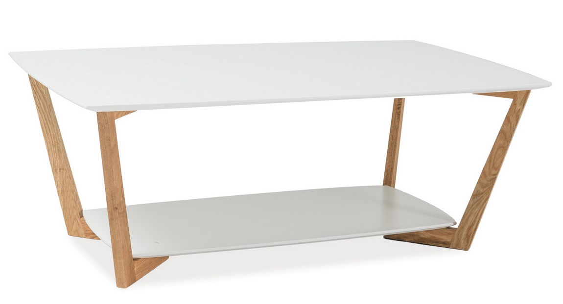 Konferenční stolek LARVIK A, bílý
