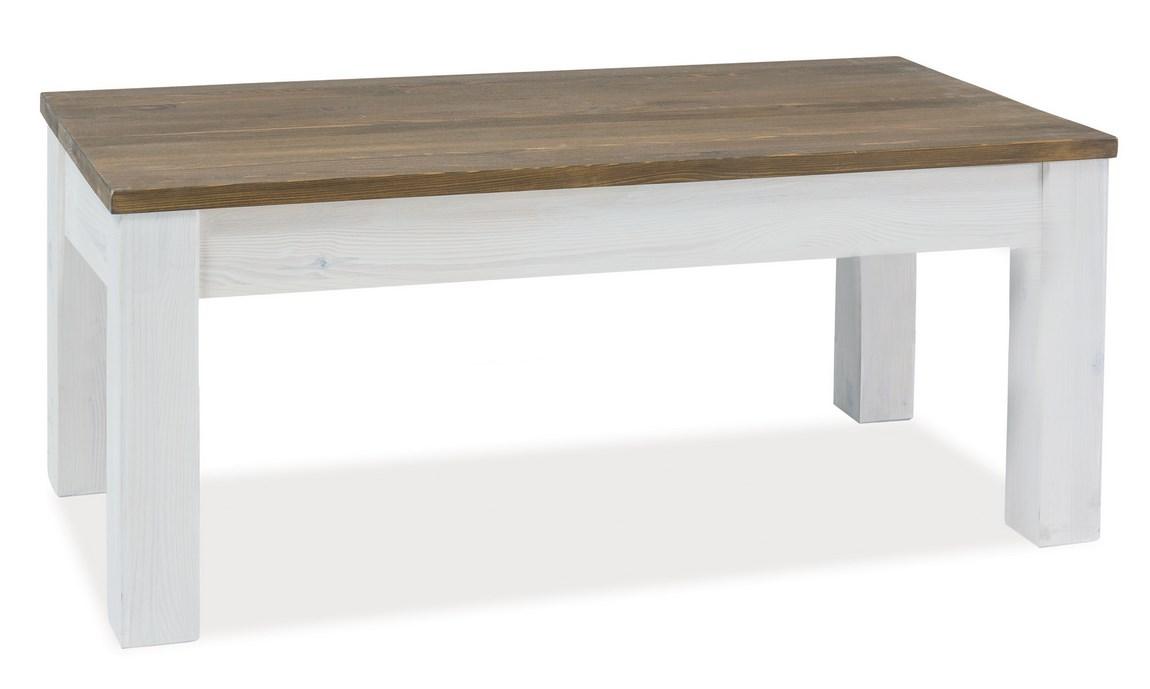 Smartshop Konferenční stolek BESKID B, ořech/bělená borovice