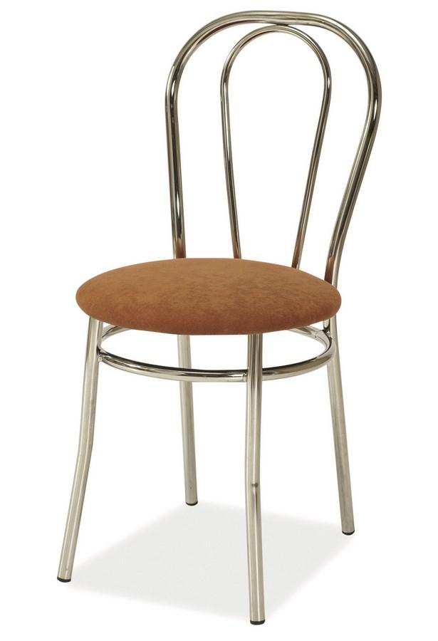 Smartshop Jídelní čalouněná židle TINA hnědá
