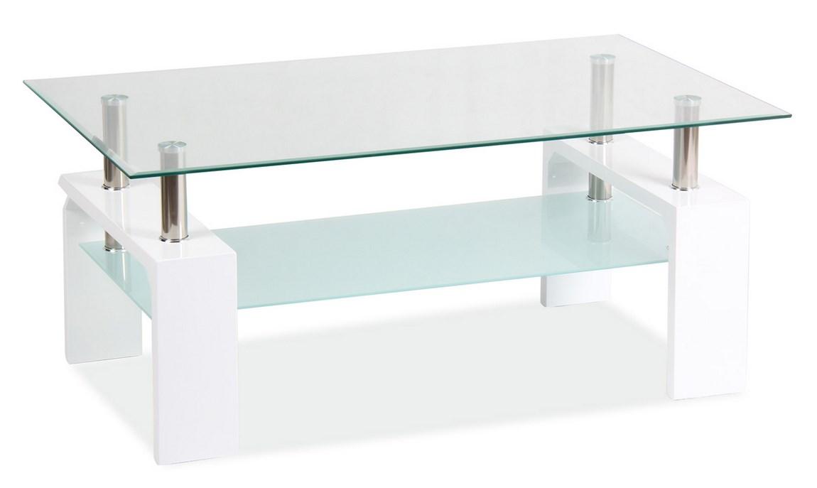 Konferenční stolek LISA BASIC II, bílý