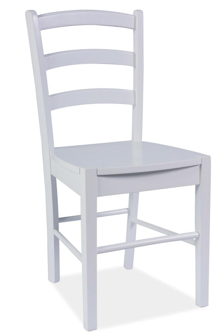 Smartshop Jídelní dřevěná židle CD-38, bílá