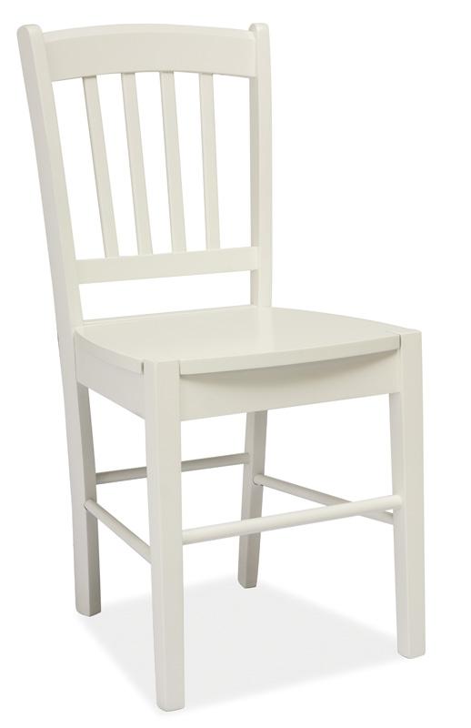 Jídelní dřevěná židle CD-57, bílá