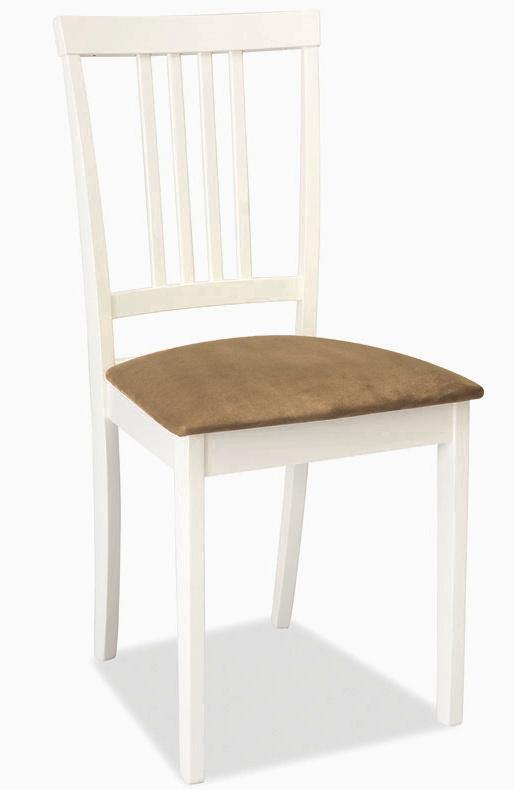 Smartshop Jídelní dřevěná židle CD-63, bílá-béž