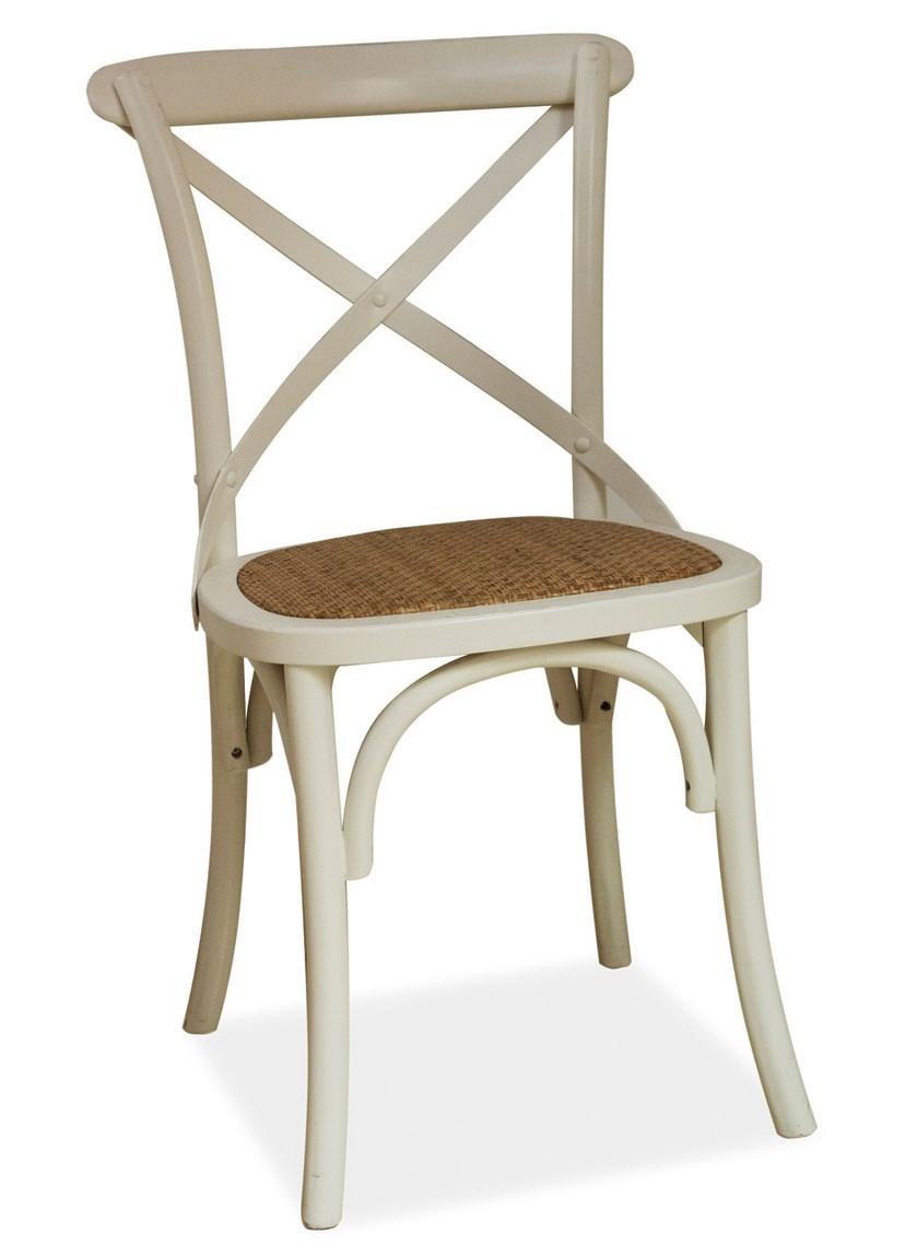 Smartshop Jídelní dřevěná židle LARS, bílá