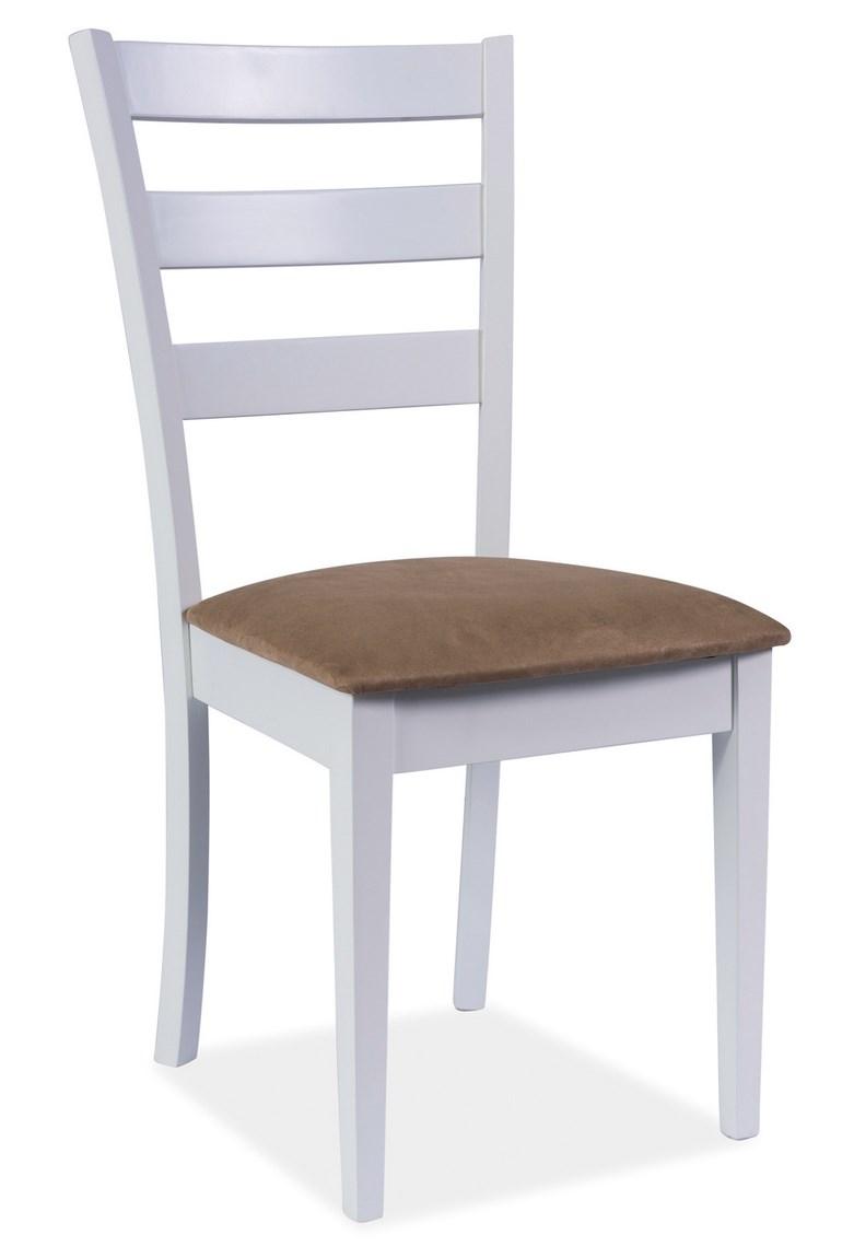 Jídelní dřevěná židle CD-86, bílá