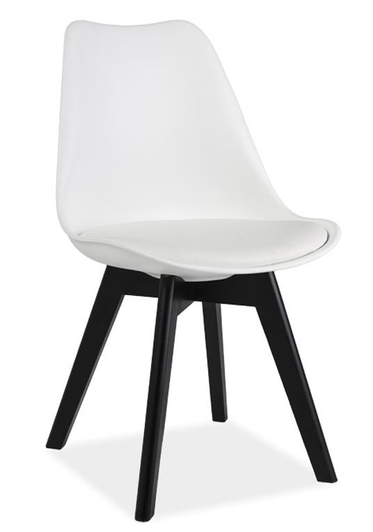Smartshop Jídelní židle KRIS II, bílá/černá