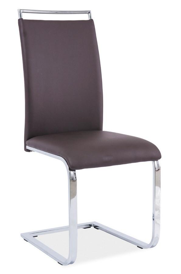 Smartshop Jídelní čalouněná židle H-334, hnědá