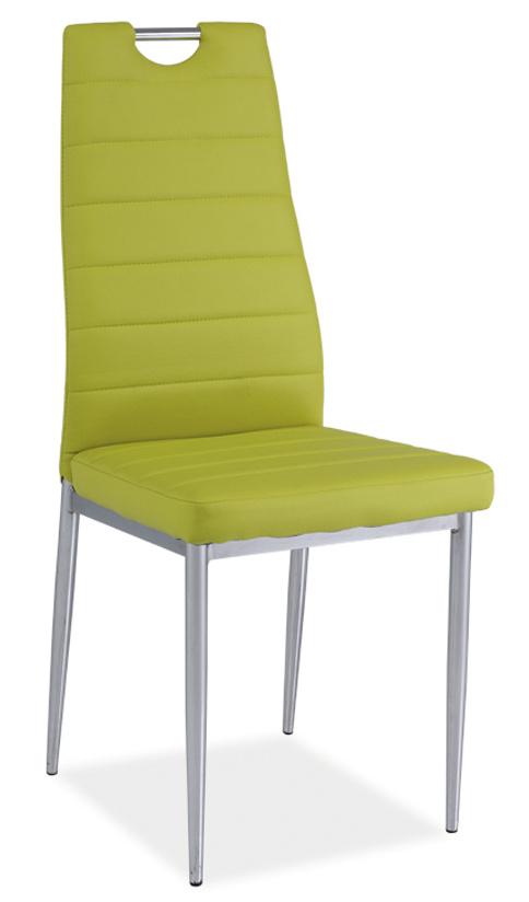 Jídelní čalouněná židle H-260, zelená/chrom