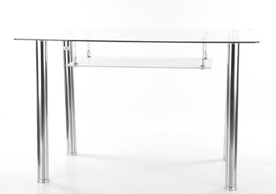 Smartshop Jídelní stůl HEKTOR, sklo/chrom