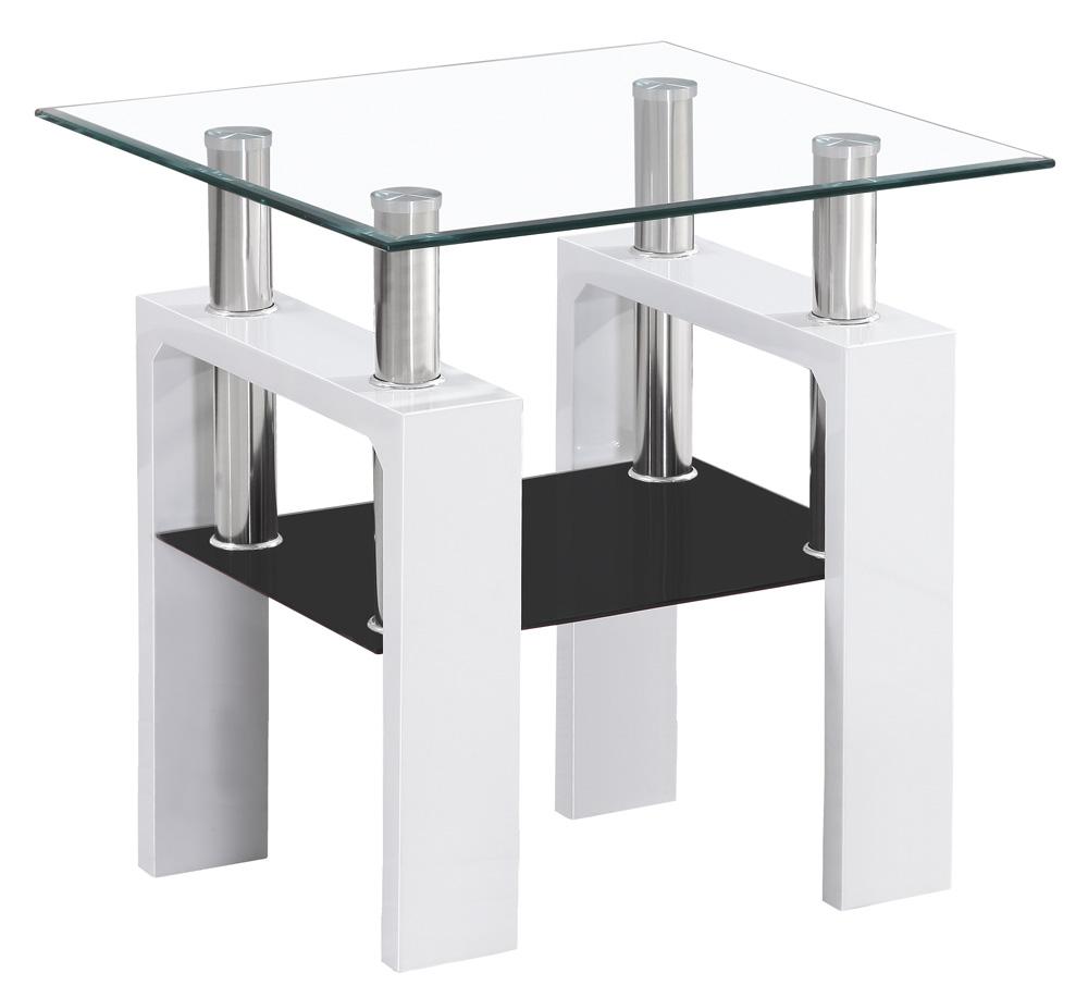 Konferenční stolek LISA D, bílá