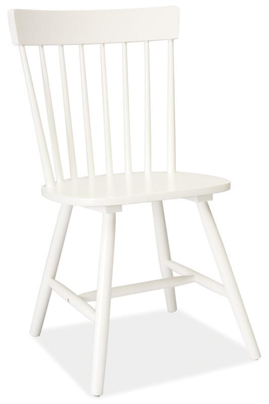 Jídelní dřevěná židle ALERO, bílá
