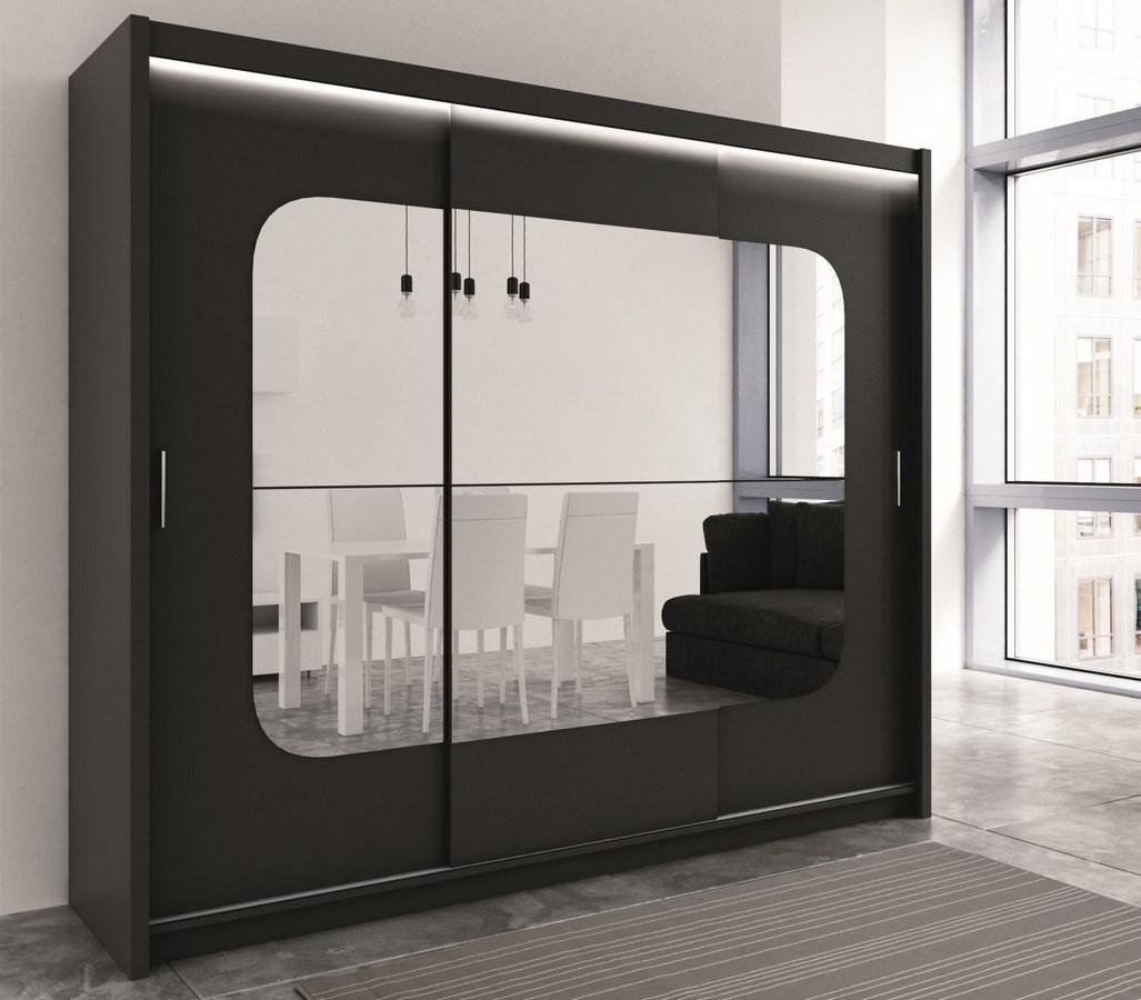 Šatní skříň BARCELONA 250 černá