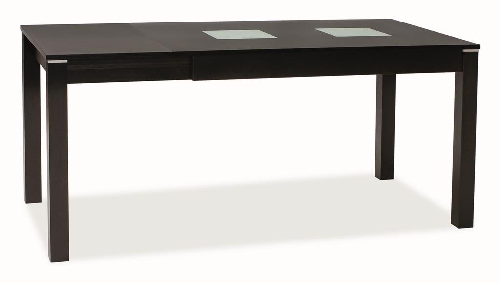 Smartshop Jídelní stůl ANTILA F rozkládací, wenge/sklo