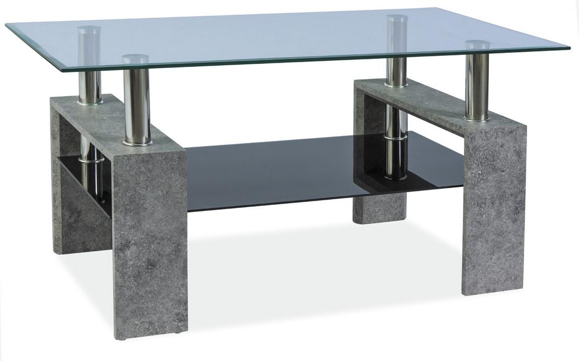 Konferenční stolek LISA III, šedý kámen