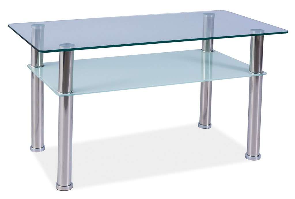 Smartshop Konferenční stolek PURIO B, kov/sklo