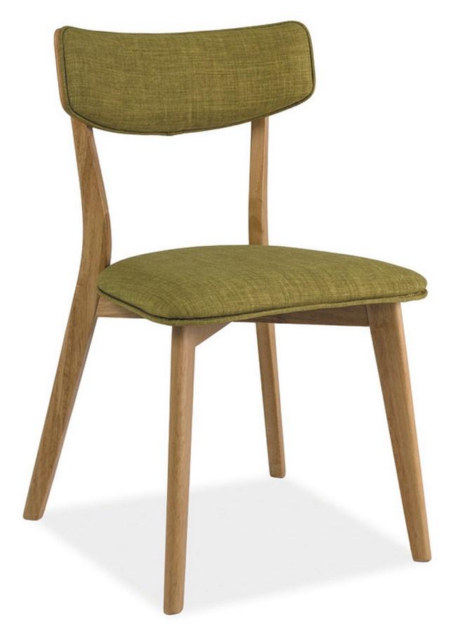 Smartshop Jídelní čalouněná židle KARL, zelená/dub