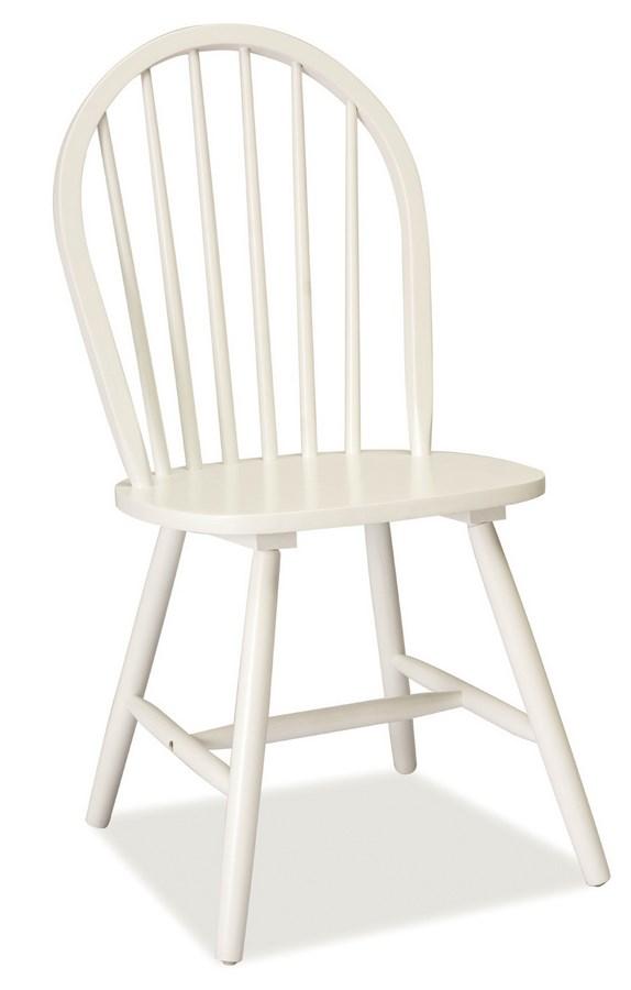Jídelní dřevěná židle FIERO, bílá