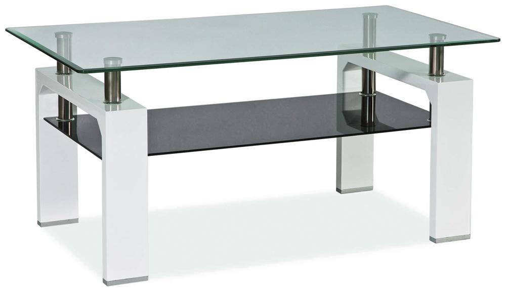 Konferenční stolek LISA II, bílý lak