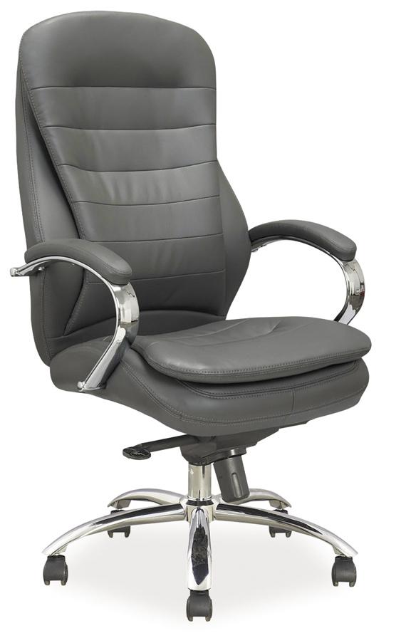 Smartshop Kancelářské křeslo Q-154 šedá ekokůže