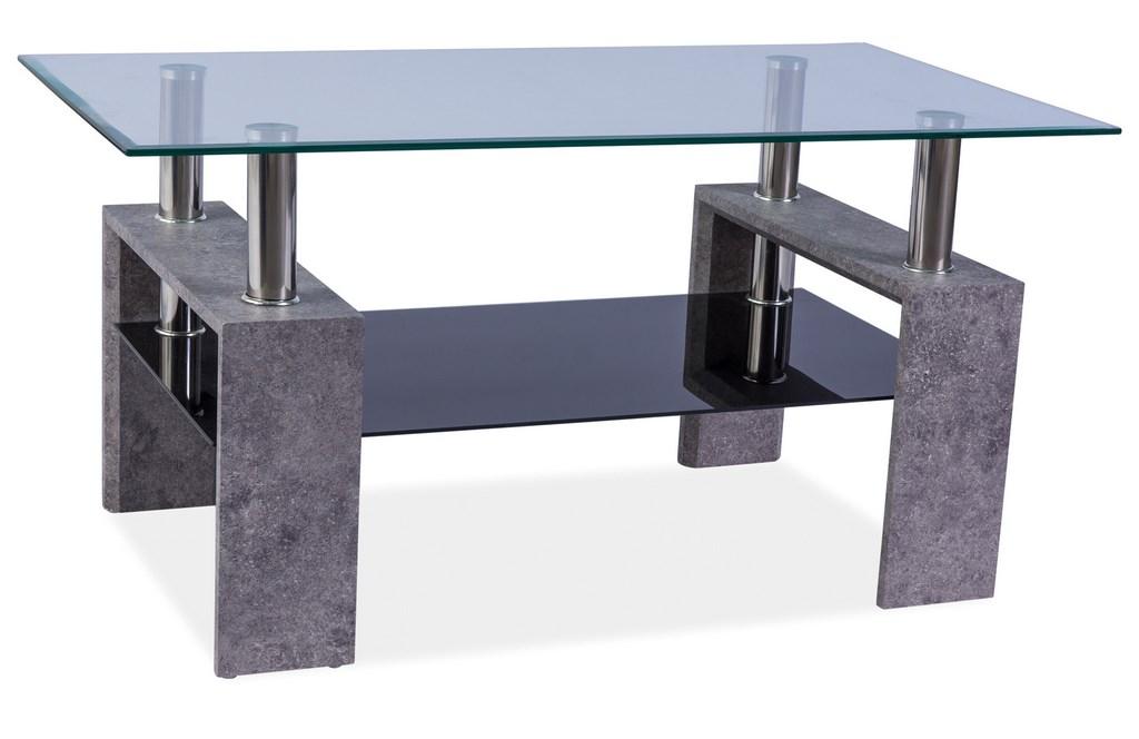 Konferenční stolek LISA II, šedý kámen