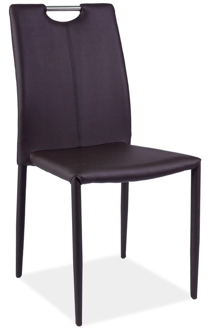 Smartshop Jídelní čalouněná židle H-322, hnědá