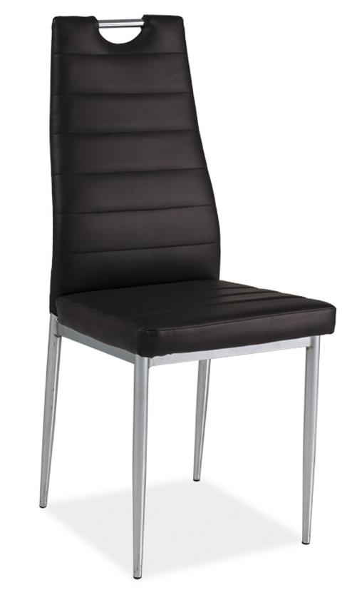 Smartshop Jídelní čalouněná židle H-260, hnědá/chrom