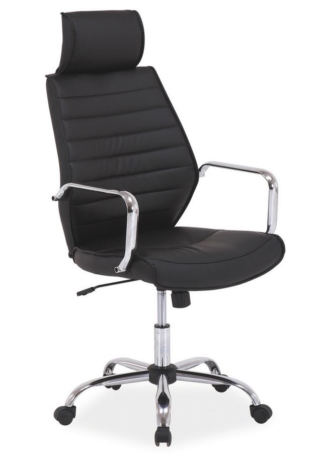 Smartshop Kancelářská židle Q-035 černá ekokůže