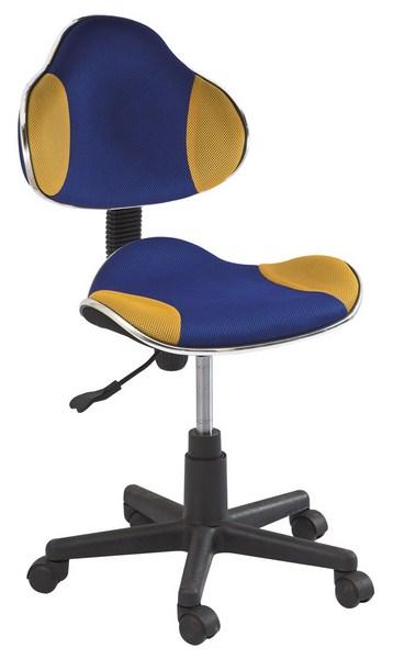 Smartshop Kancelářská židle Q-G2 modrá/žlutá