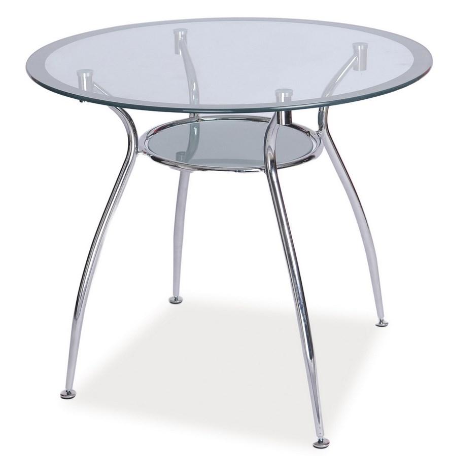 Smartshop Jídelní stůl FINEZJA A, sklo/stříbrná