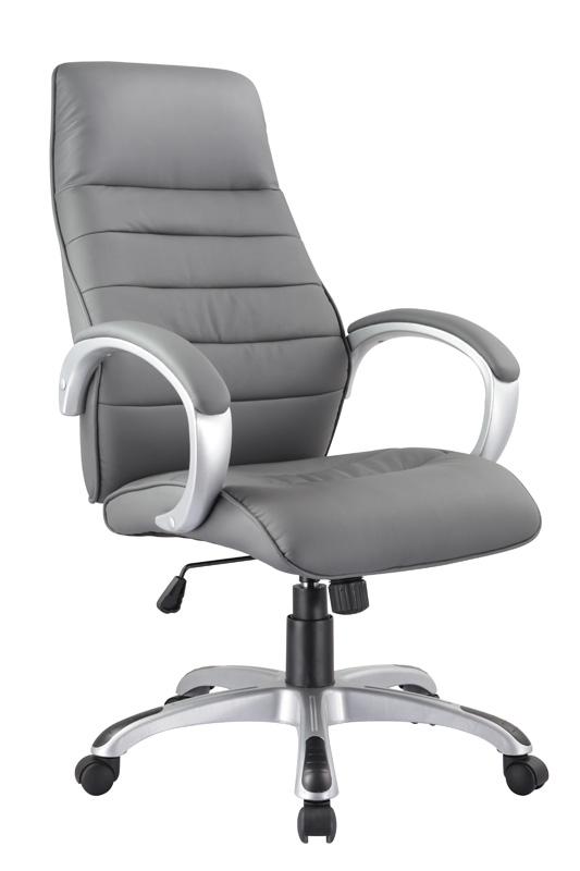 Smartshop Kancelářské křeslo Q-046 - šedá ekokůže