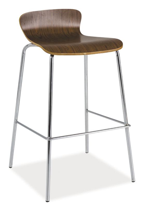 Smartshop Barová židle C-460, ořech/chrom