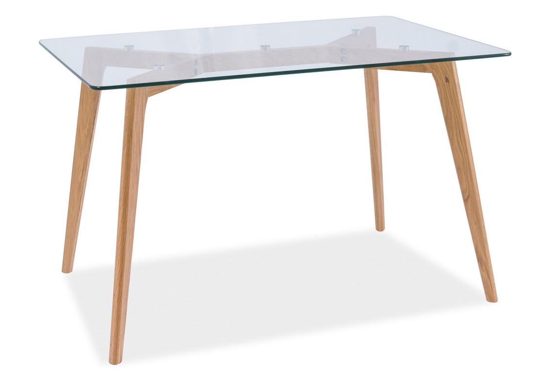Smartshop Jídelní stůl OSLO dub/sklo