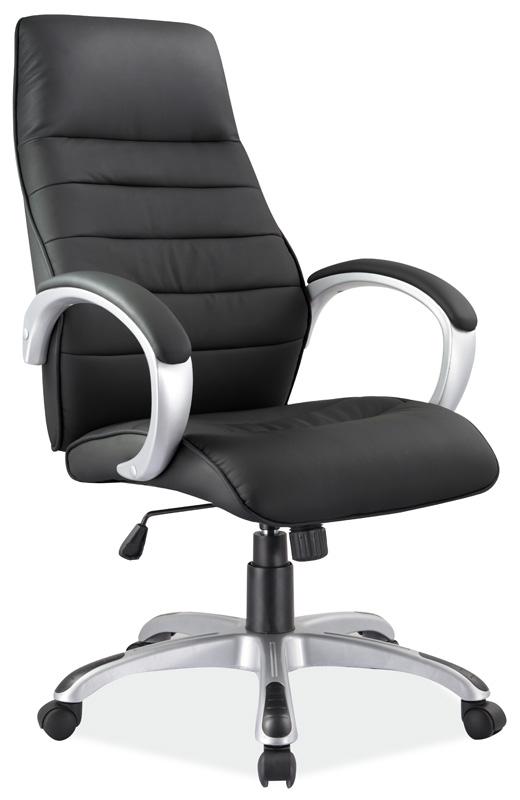Smartshop Kancelářské křeslo Q-046 - černá ekokůže