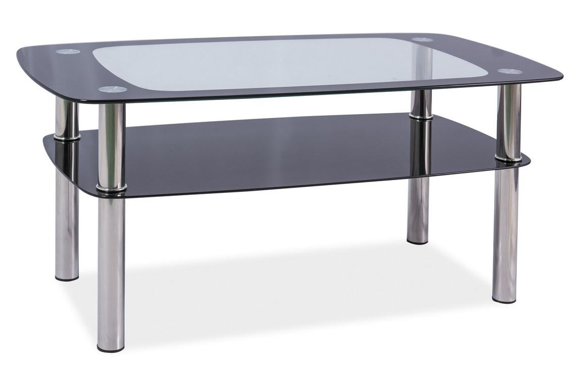 Konferenční stolek ROSOLINA C, kov/sklo