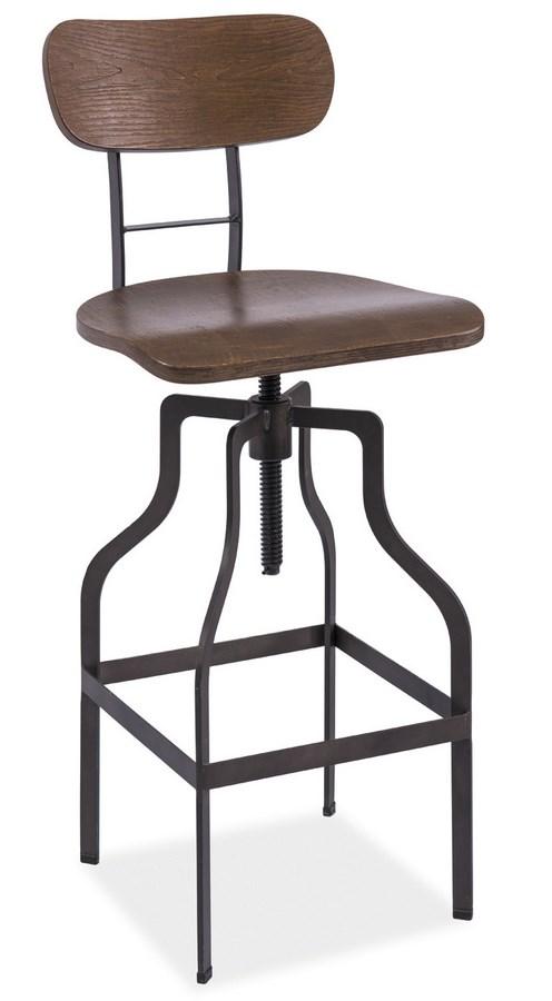 Smartshop Barová židle DROP, ořech/kov