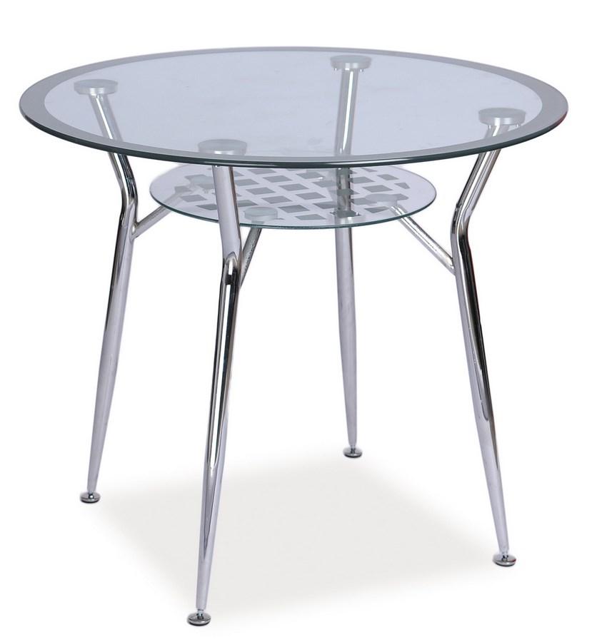 Smartshop Jídelní stůl MOLAR, sklo/chrom