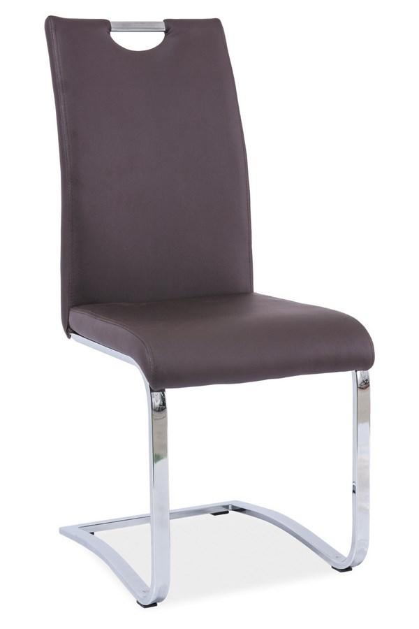 Smartshop Jídelní čalouněná židle H-790, hnědá