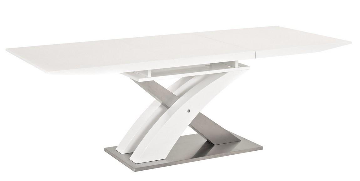 Smartshop Jídelní stůl RAUL rozkládací, bílý