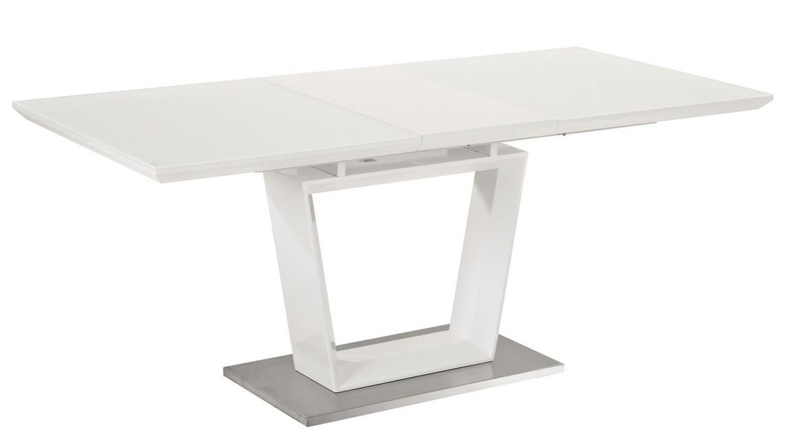 Smartshop Jídelní stůl LAUREN rozkládací, bílá