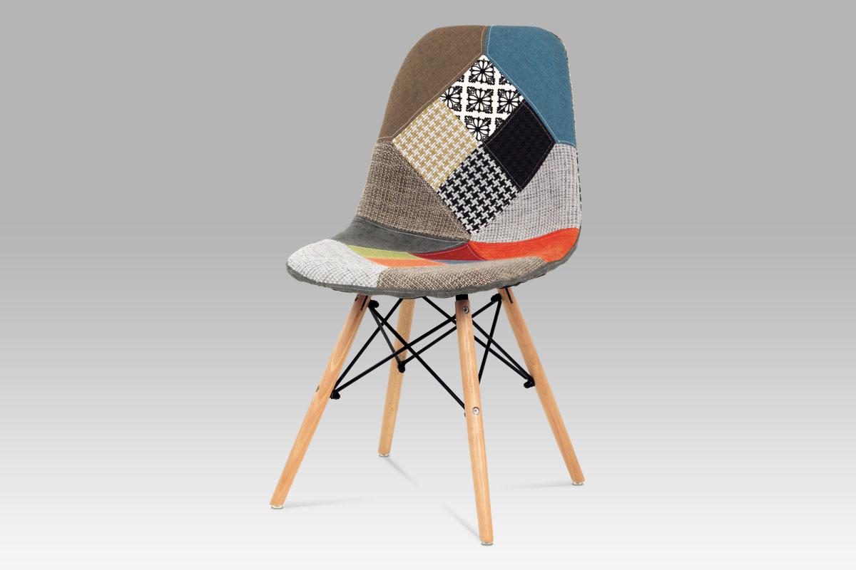 Autronic Jídelní židle ZCT-724 PW2, patchwork / natural