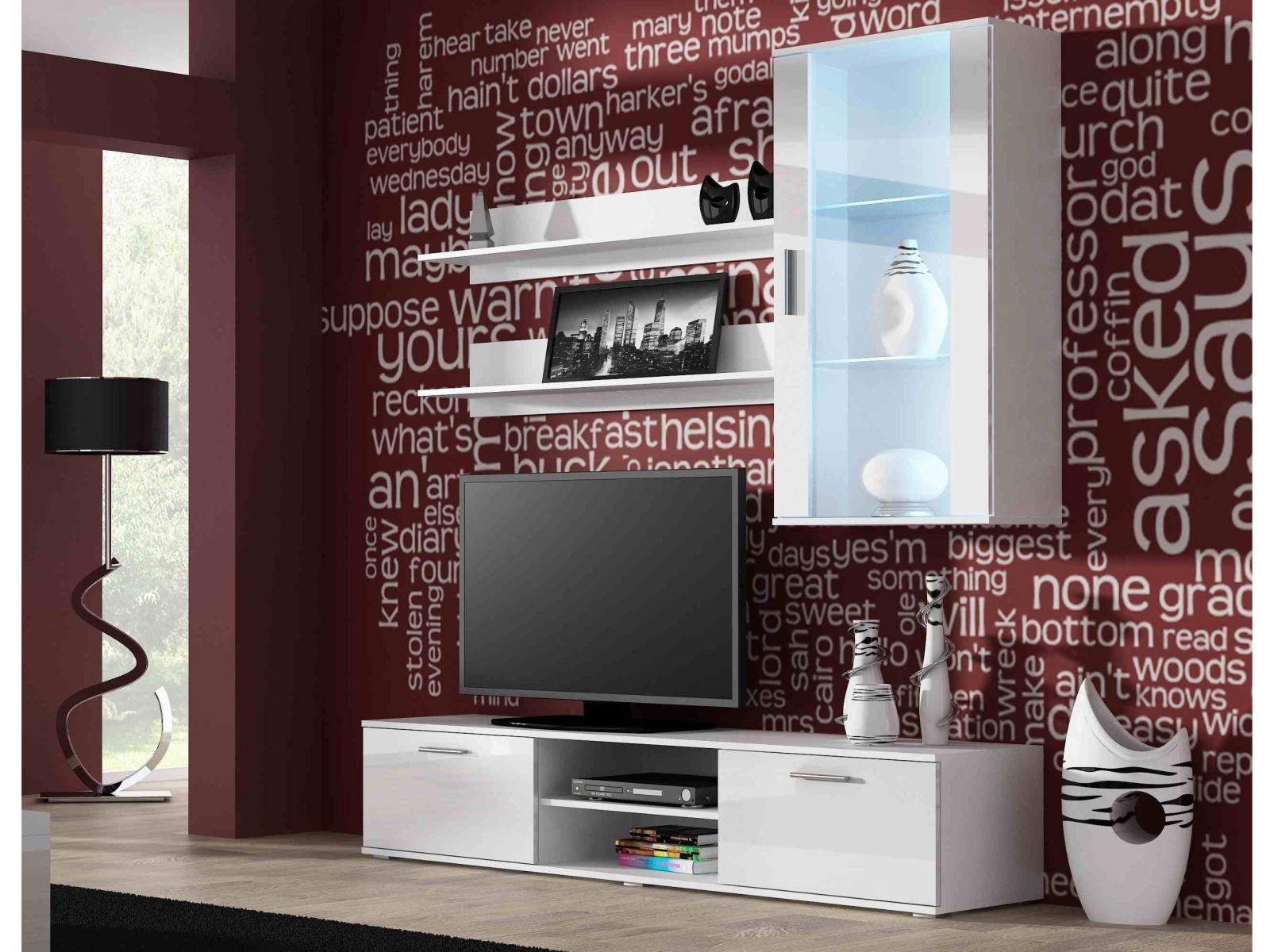 CAMA SOHO, obývací pokoj - sestava 2, bílý mat/bílý lesk