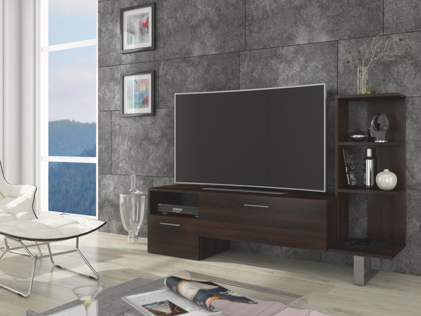 MORAVIA FLAT BEST televizní stolek, dub sonoma tmavý
