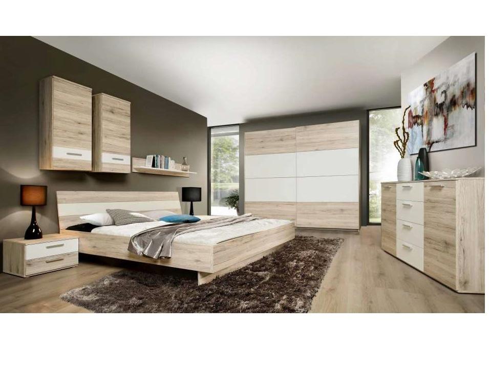 VALERIE, ložnice, dub pískový/bílá