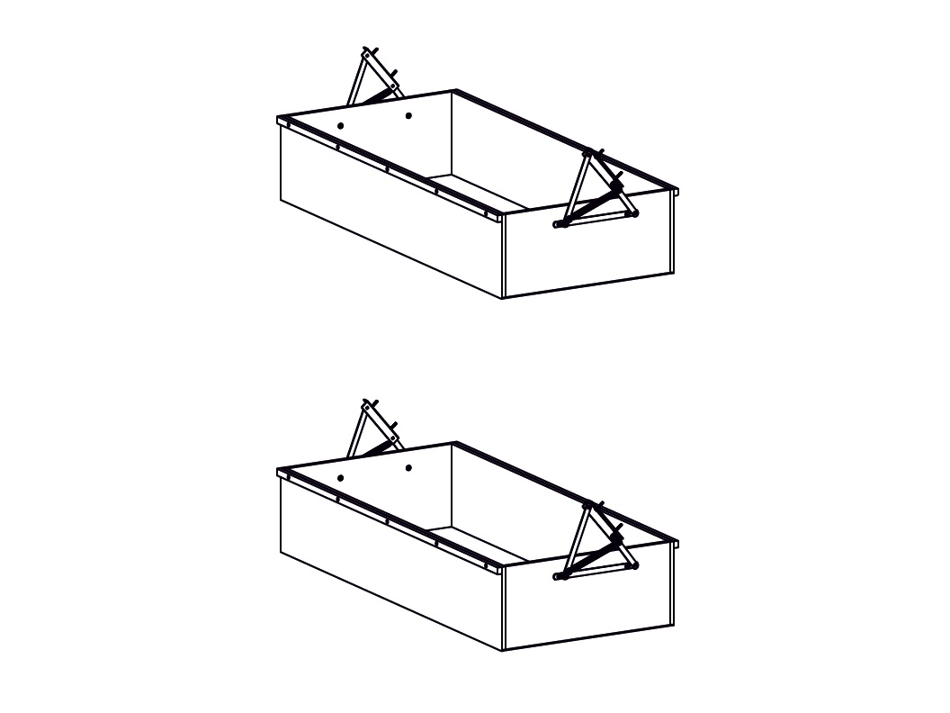 Decodom AURELIE úložné prostory pod postel typ 80 COMFORT, pino aurelio